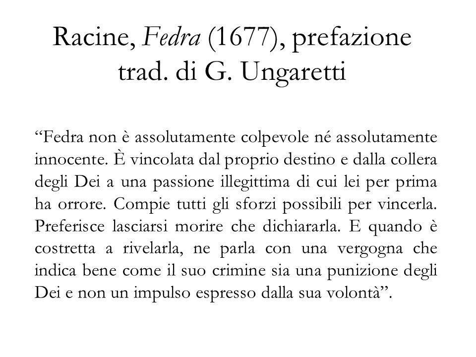 Racine, Fedra (1677), prefazione trad. di G. Ungaretti