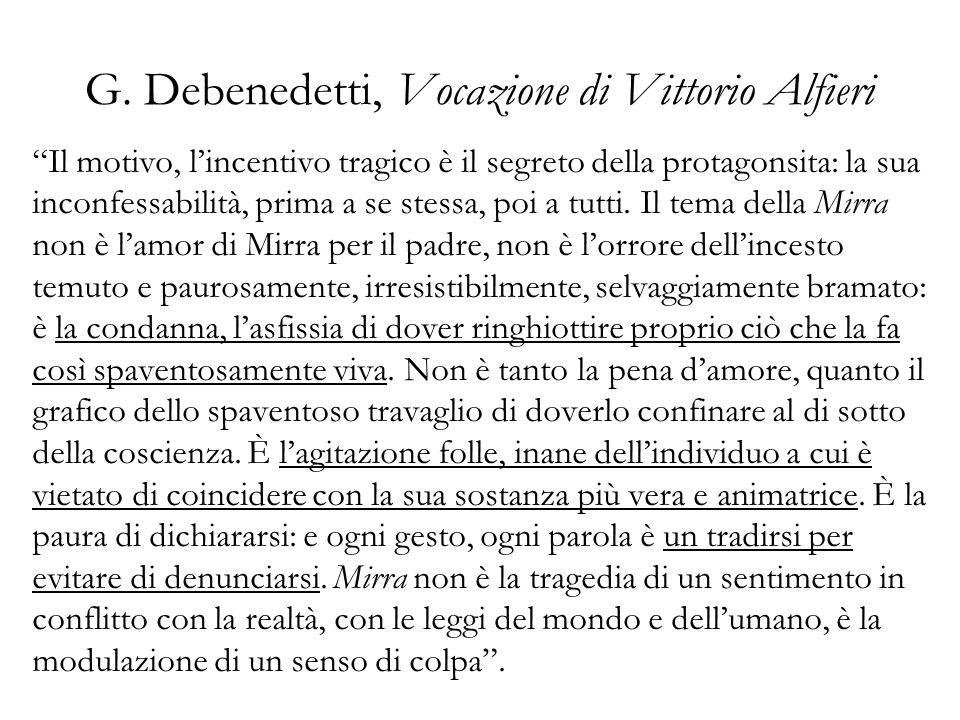 G. Debenedetti, Vocazione di Vittorio Alfieri