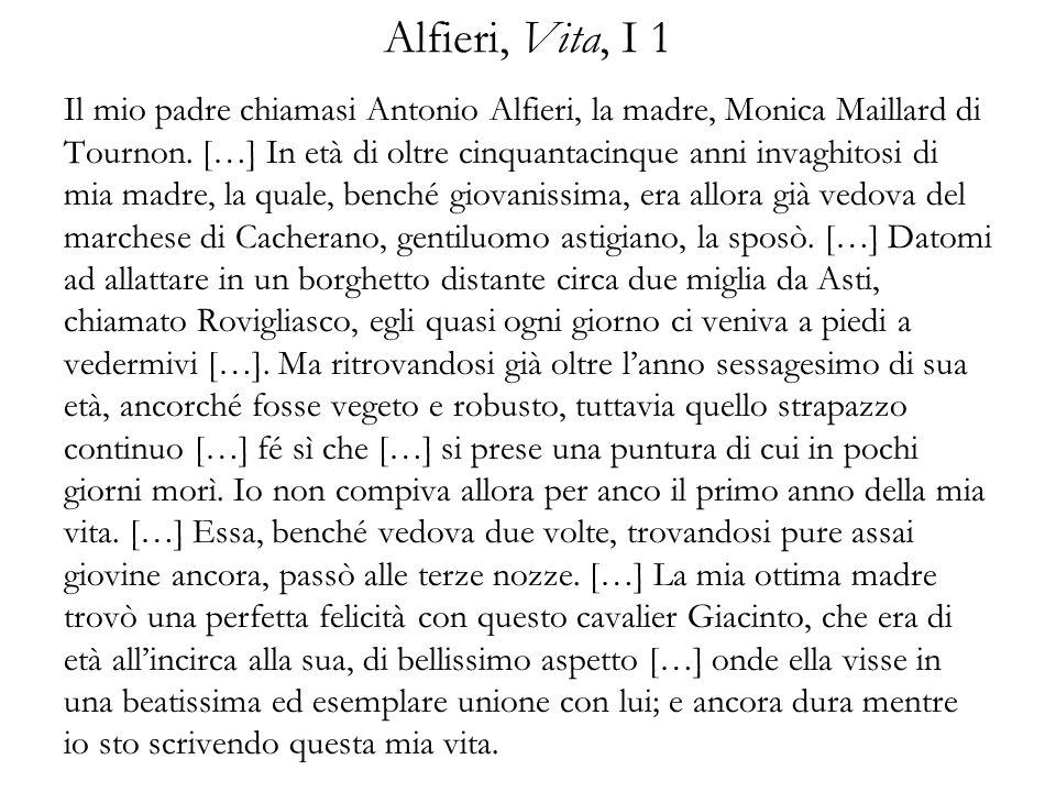Alfieri, Vita, I 1