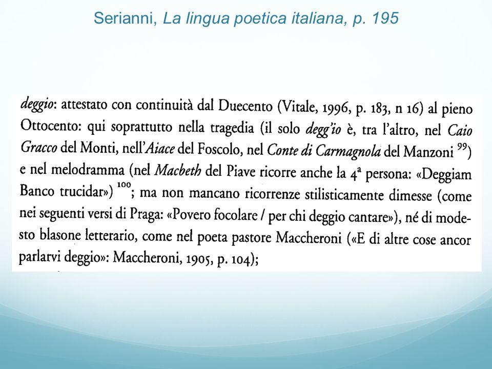 Serianni, La lingua poetica italiana, p. 195