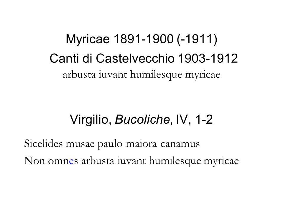 Virgilio, Bucoliche, IV, 1-2