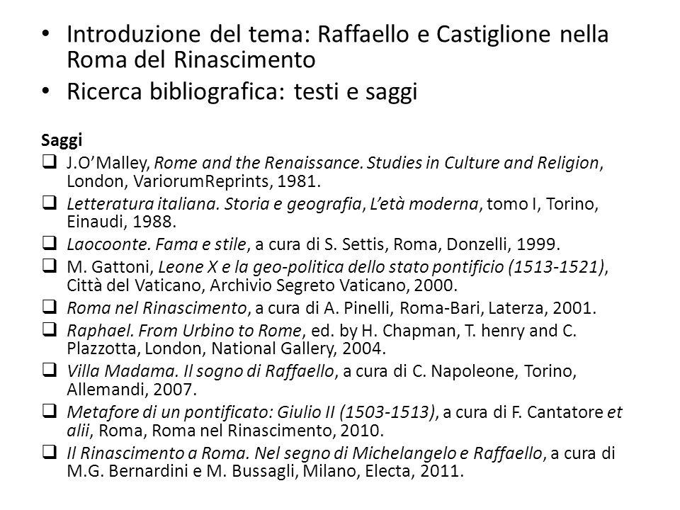 Ricerca bibliografica: testi e saggi