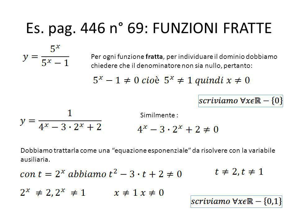 Es. pag. 446 n° 69: FUNZIONI FRATTE