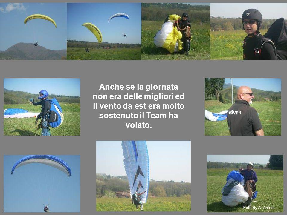 Anche se la giornata non era delle migliori ed il vento da est era molto sostenuto il Team ha volato.