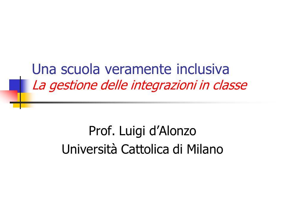 Prof. Luigi d'Alonzo Università Cattolica di Milano