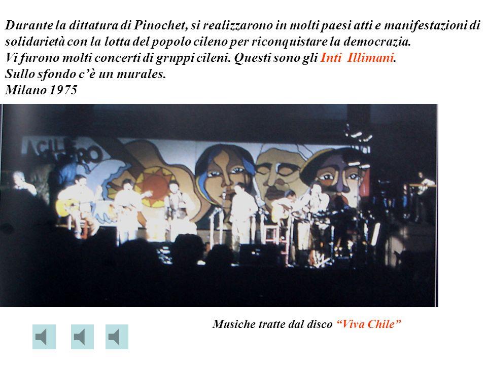 Sullo sfondo c'è un murales. Milano 1975