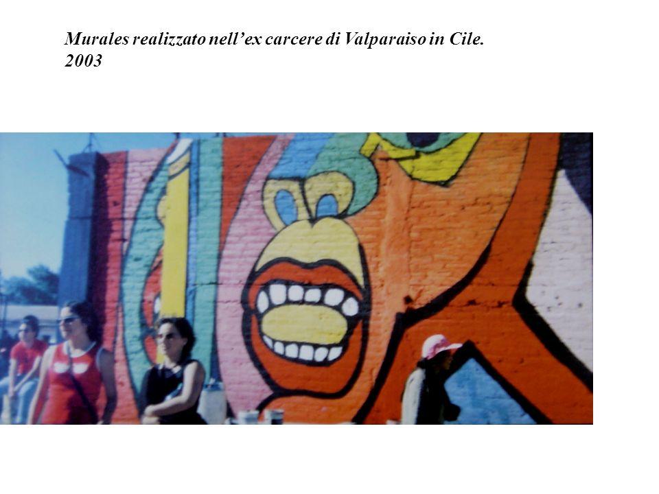 Murales realizzato nell'ex carcere di Valparaiso in Cile.
