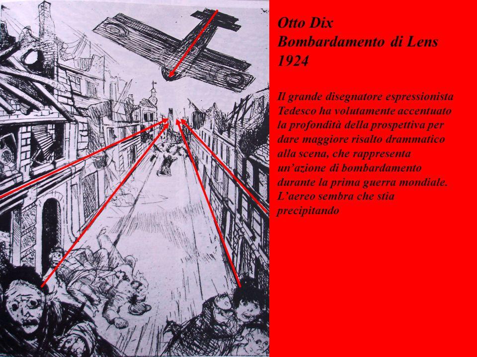 Otto Dix Bombardamento di Lens 1924