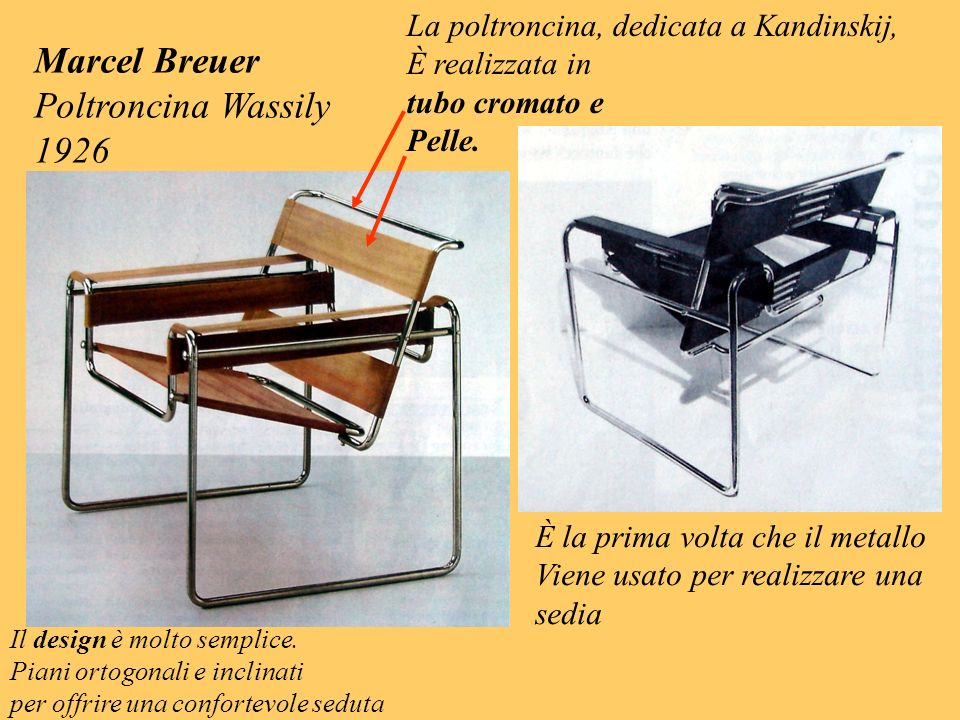 Marcel Breuer Poltroncina Wassily 1926