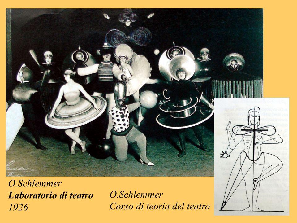 O.Schlemmer Laboratorio di teatro 1926 O.Schlemmer Corso di teoria del teatro