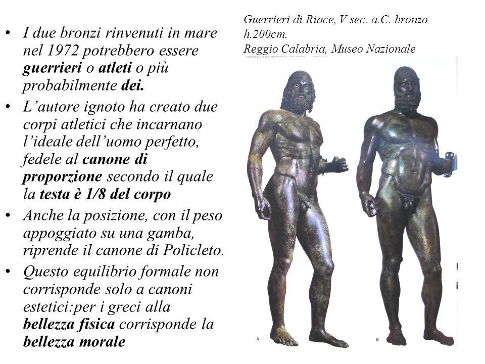 Guerrieri di Riace, V sec. a. C. bronzo h. 200cm