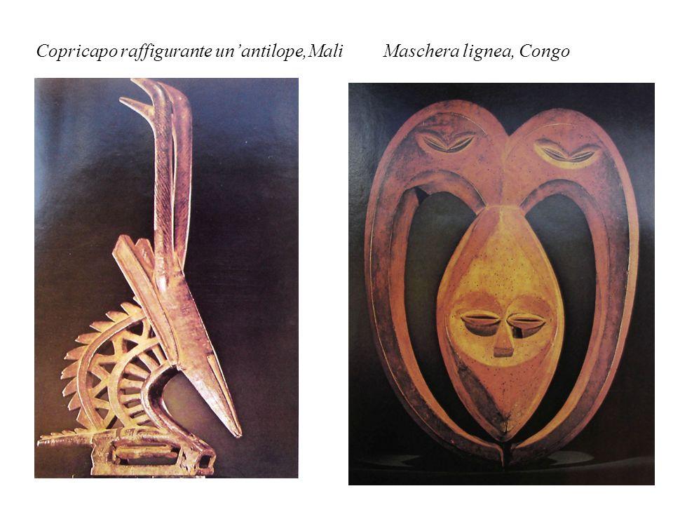 Copricapo raffigurante un'antilope,Mali Maschera lignea, Congo