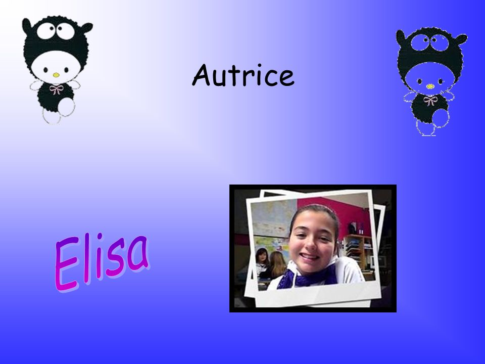Autrice Elisa