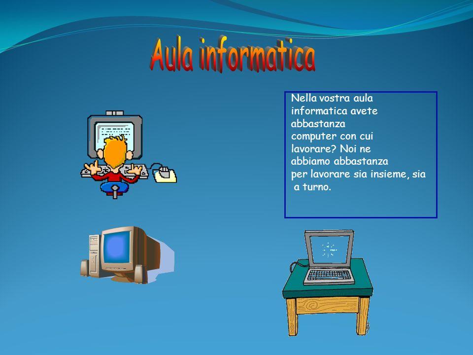 Aula informatica Nella vostra aula informatica avete abbastanza