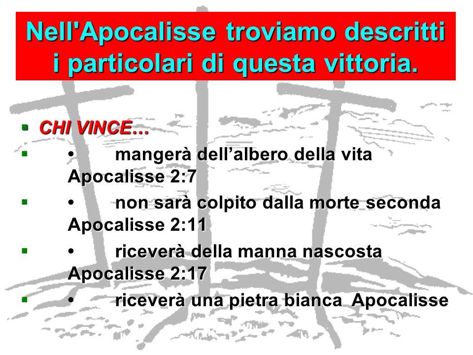 Nell Apocalisse troviamo descritti i particolari di questa vittoria.
