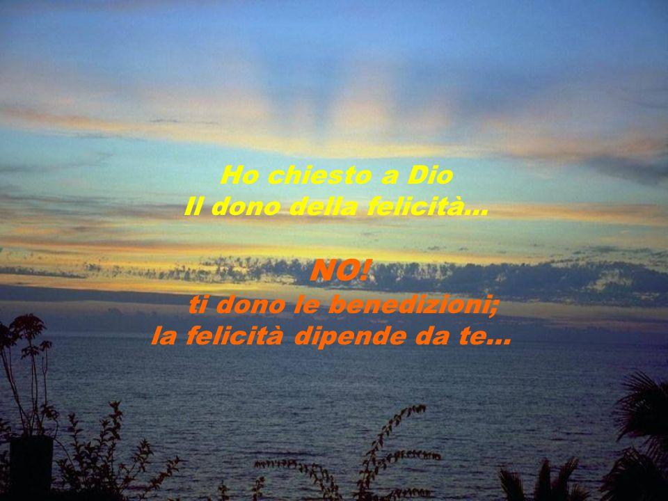 ti dono le benedizioni; la felicità dipende da te…