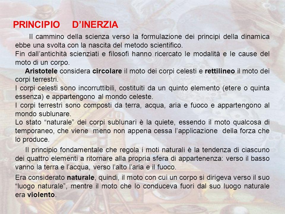 PRINCIPIO D'INERZIA