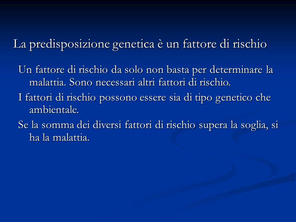 La predisposizione genetica è un fattore di rischio
