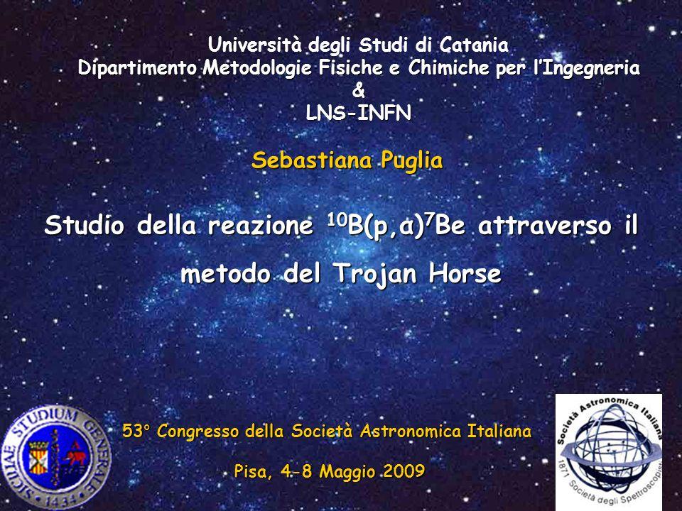 Università degli Studi di Catania Dipartimento Metodologie Fisiche e Chimiche per l'Ingegneria & LNS-INFN