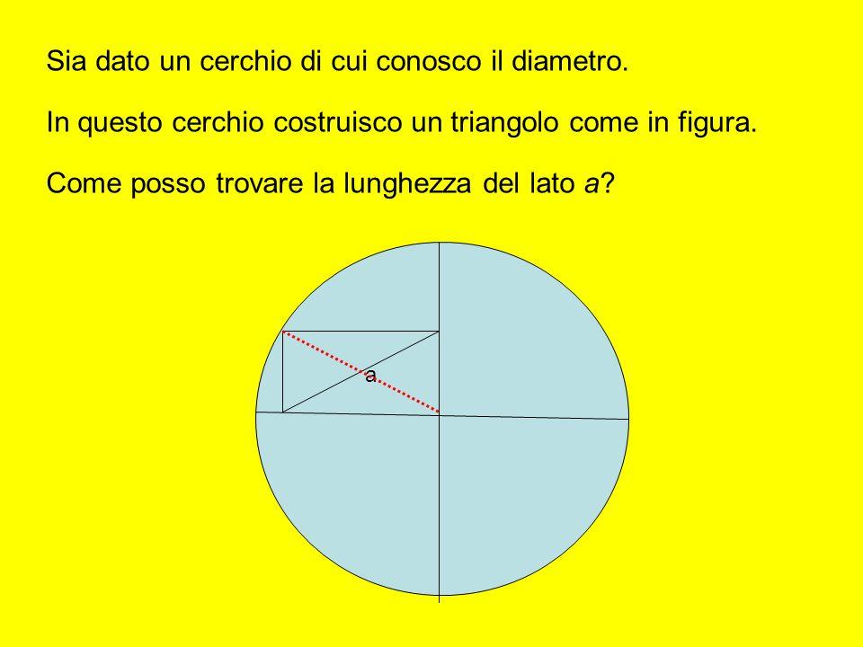 Sia dato un cerchio di cui conosco il diametro.