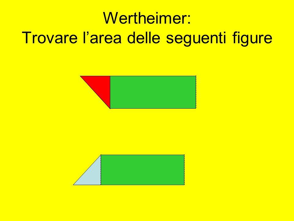 Wertheimer: Trovare l'area delle seguenti figure