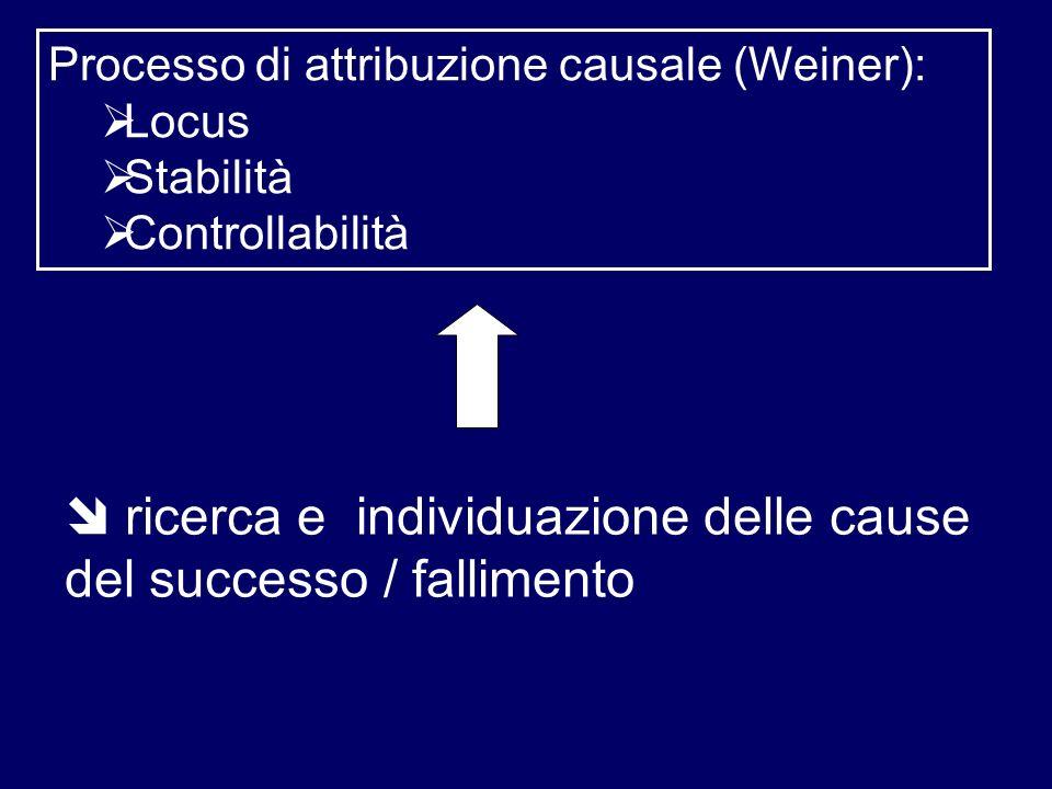  ricerca e individuazione delle cause del successo / fallimento