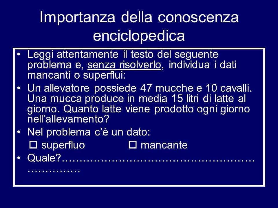 Importanza della conoscenza enciclopedica