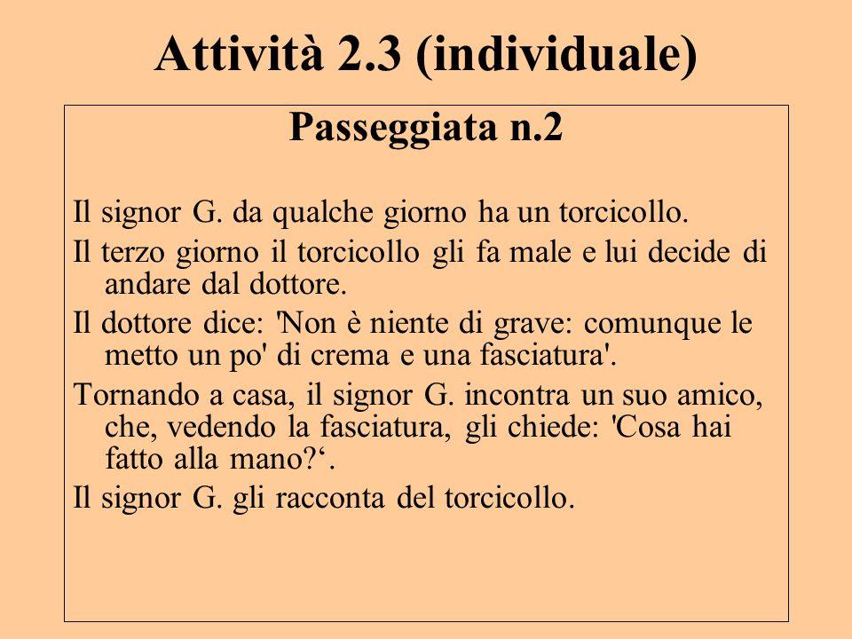 Attività 2.3 (individuale)