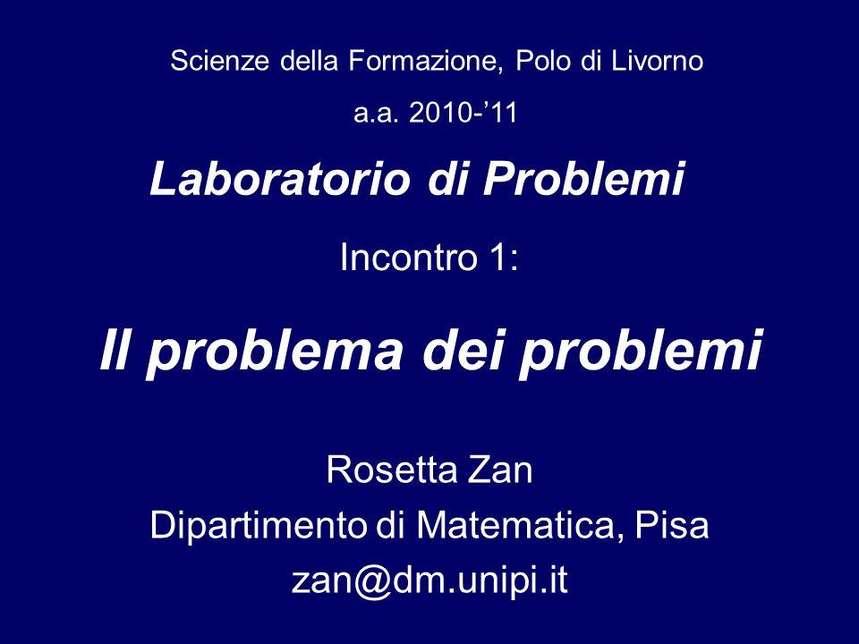 Laboratorio di Problemi