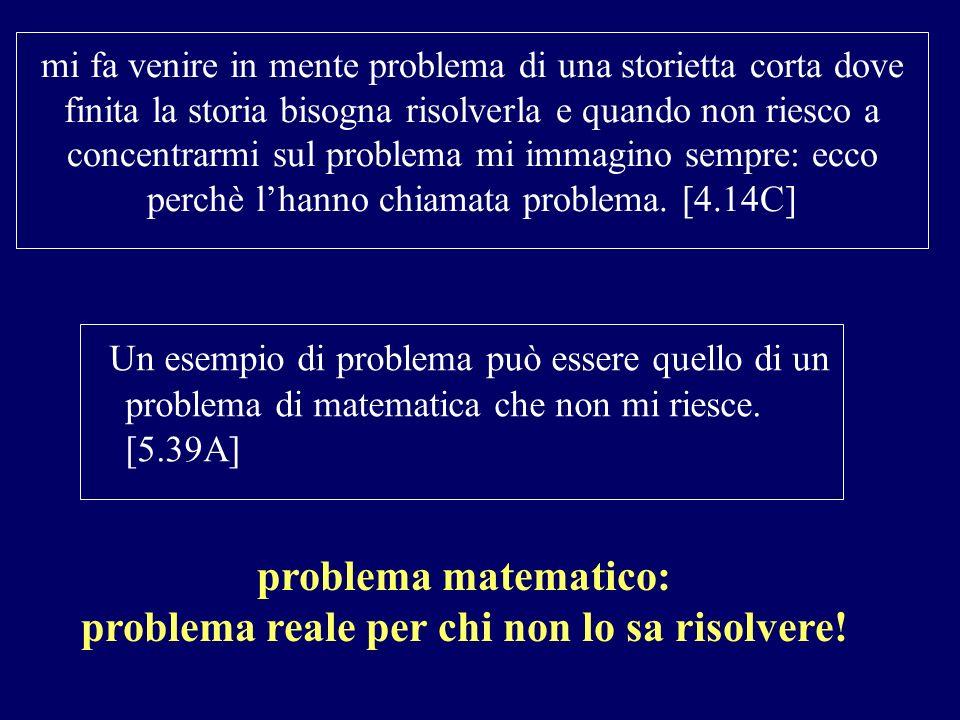 problema reale per chi non lo sa risolvere!
