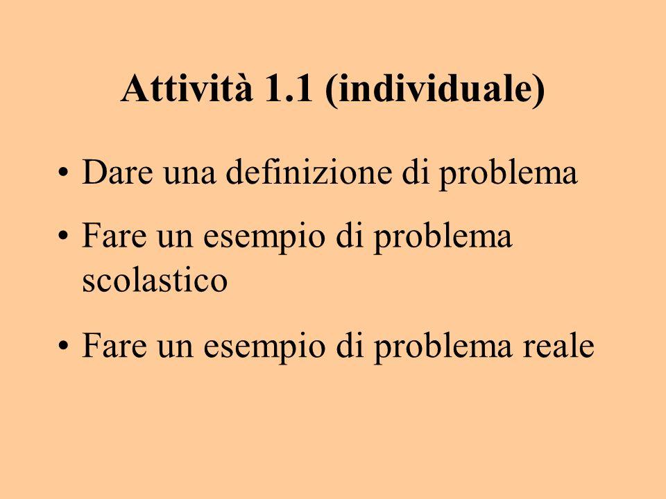 Attività 1.1 (individuale)
