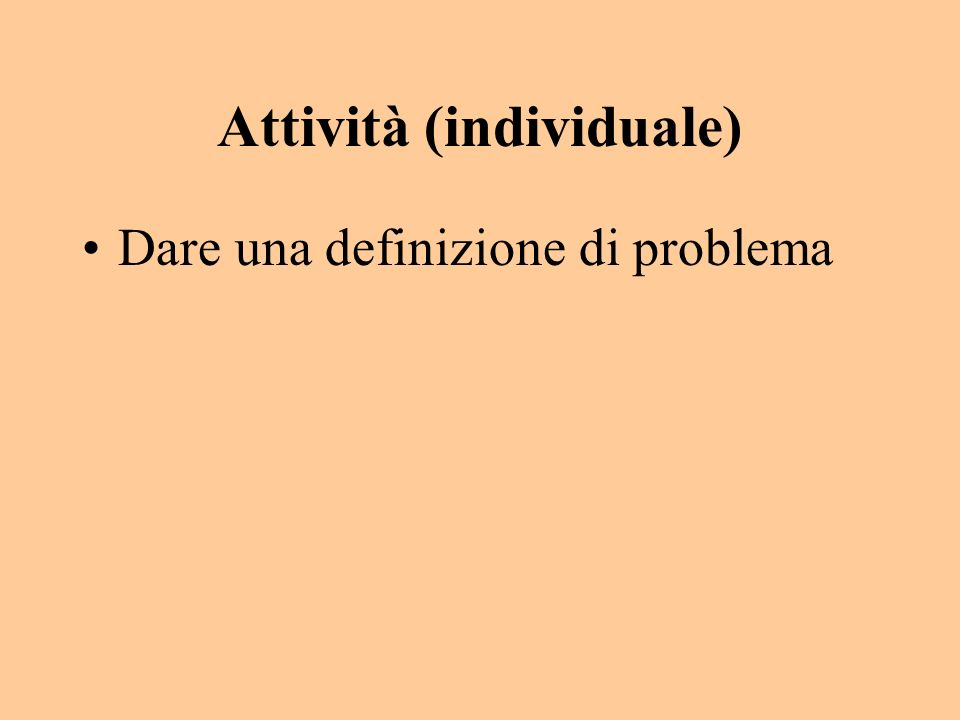 Attività (individuale)