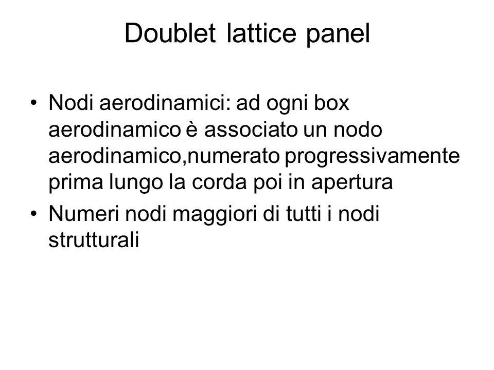 Doublet lattice panel