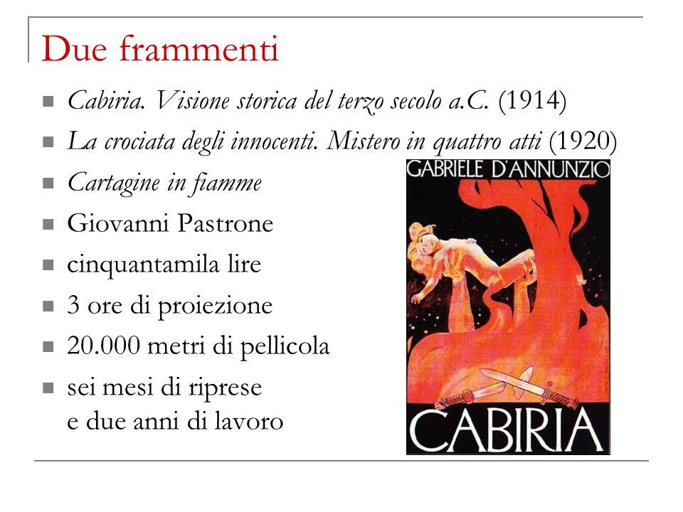 Due frammenti Cabiria. Visione storica del terzo secolo a.C. (1914)