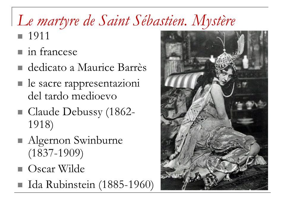 Le martyre de Saint Sébastien. Mystère