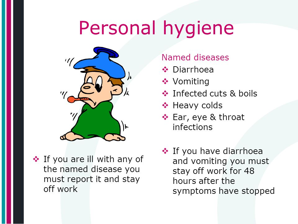 Personal hygiene Named diseases Diarrhoea Vomiting