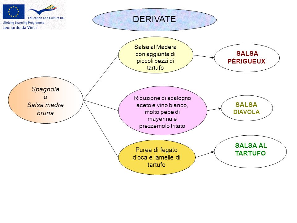 DERIVATE SALSA PÉRIGUEUX Spagnola o Salsa madre bruna SALSA DIAVOLA
