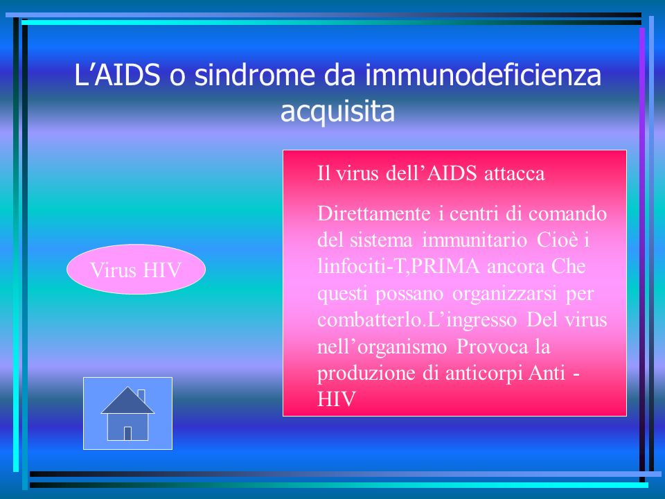 L'AIDS o sindrome da immunodeficienza acquisita