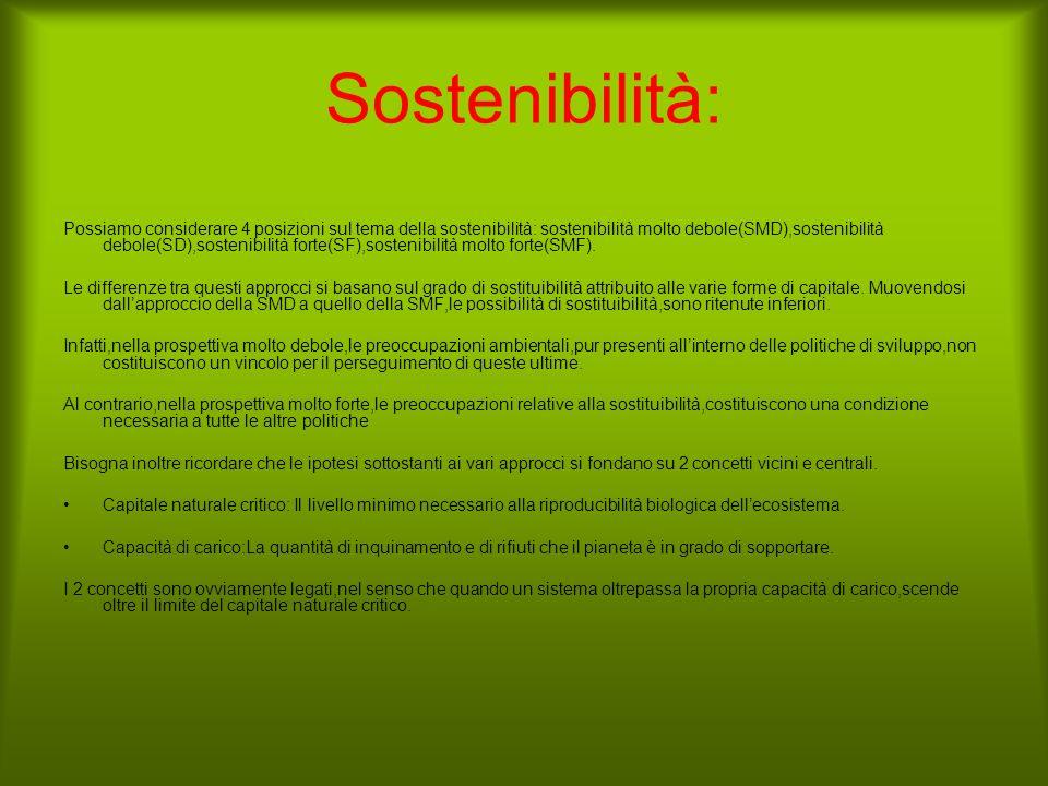 Sostenibilità: