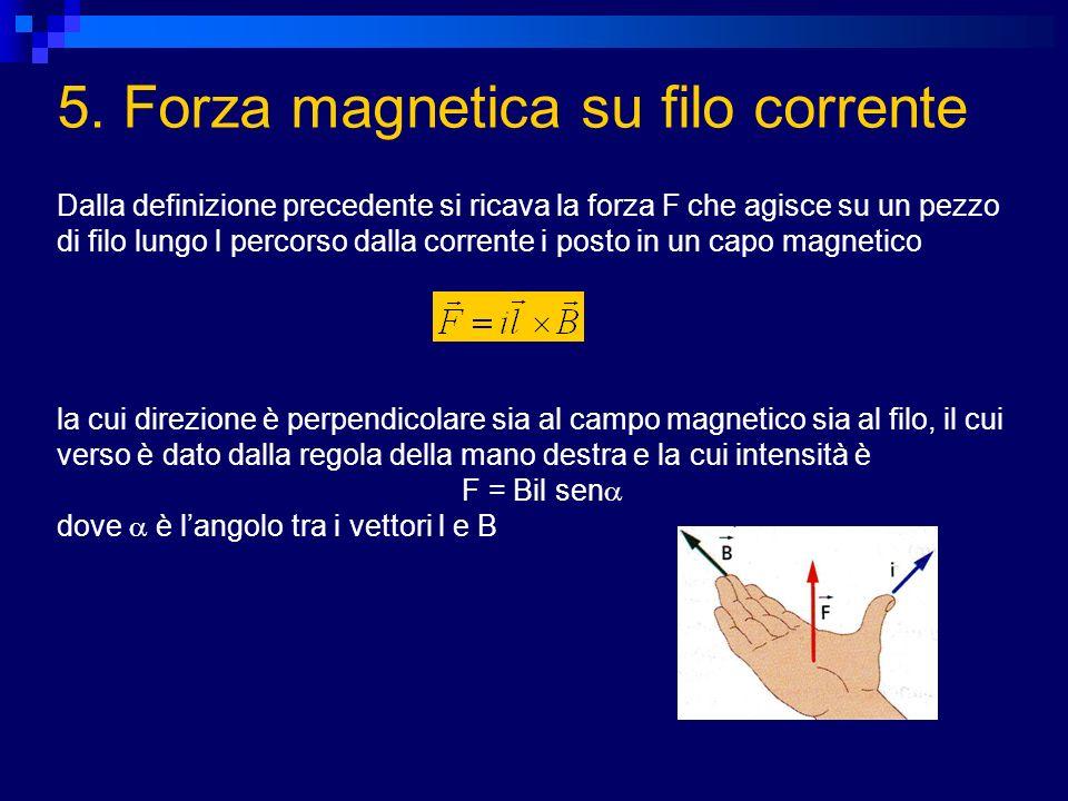 5. Forza magnetica su filo corrente