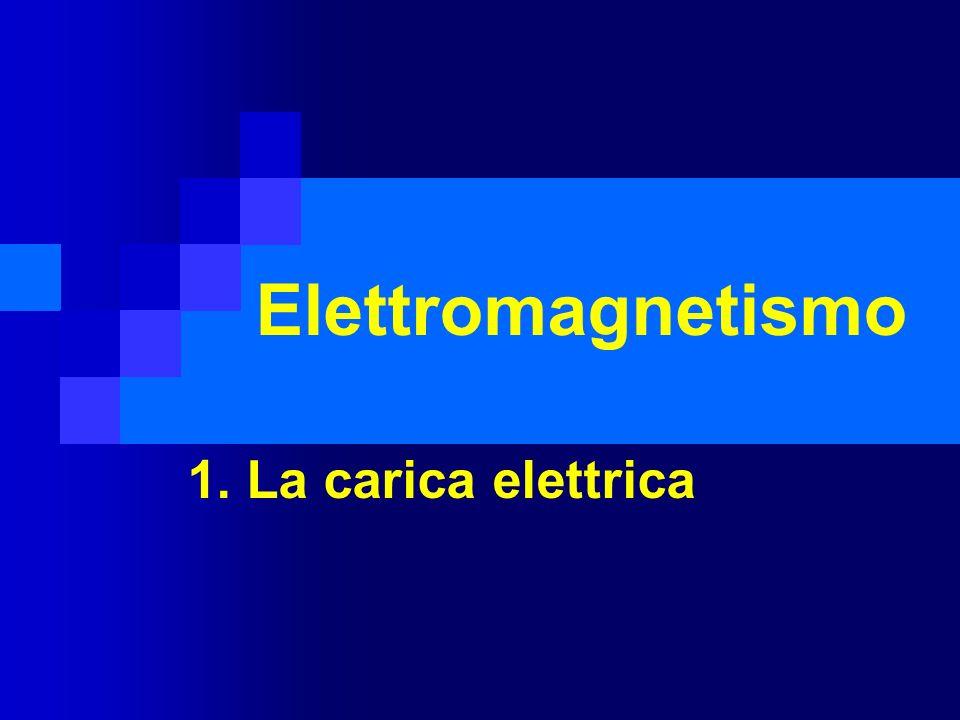 Elettromagnetismo 1. La carica elettrica
