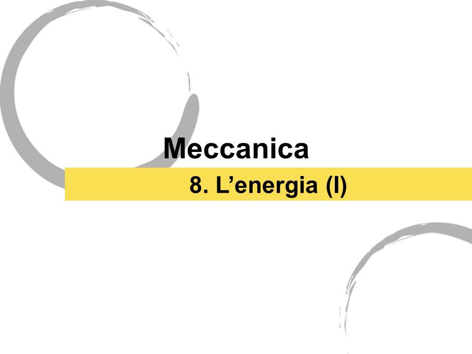 Meccanica 8. L'energia (I)