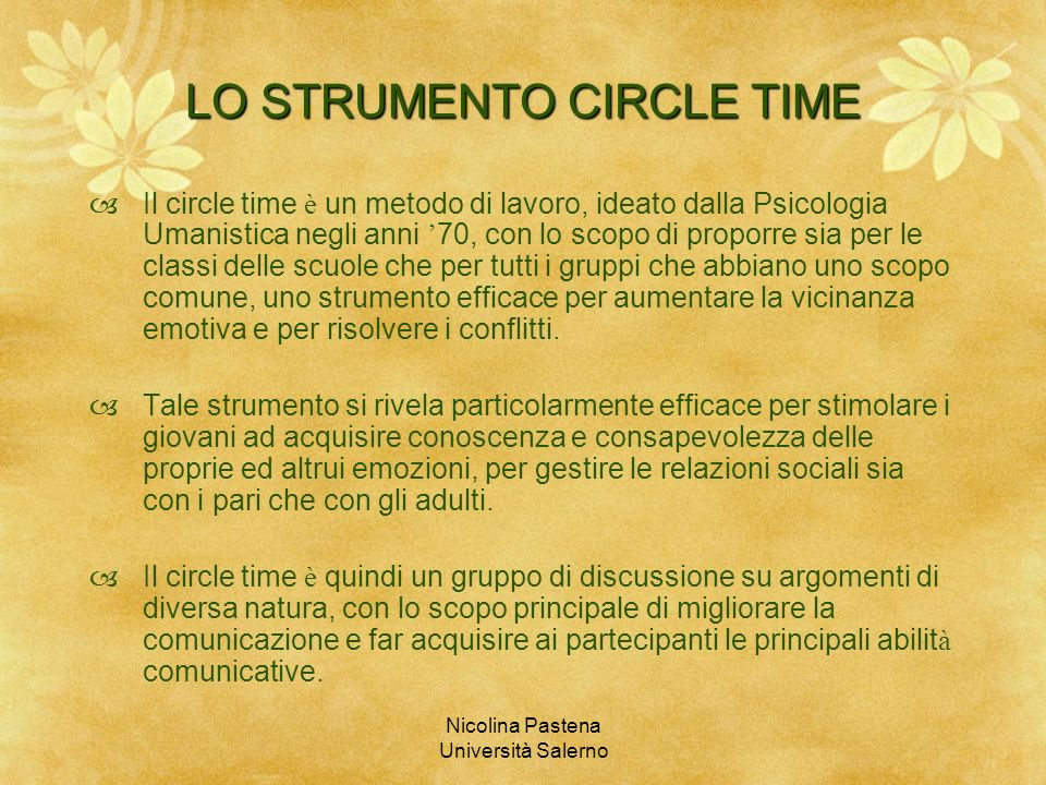 LO STRUMENTO CIRCLE TIME