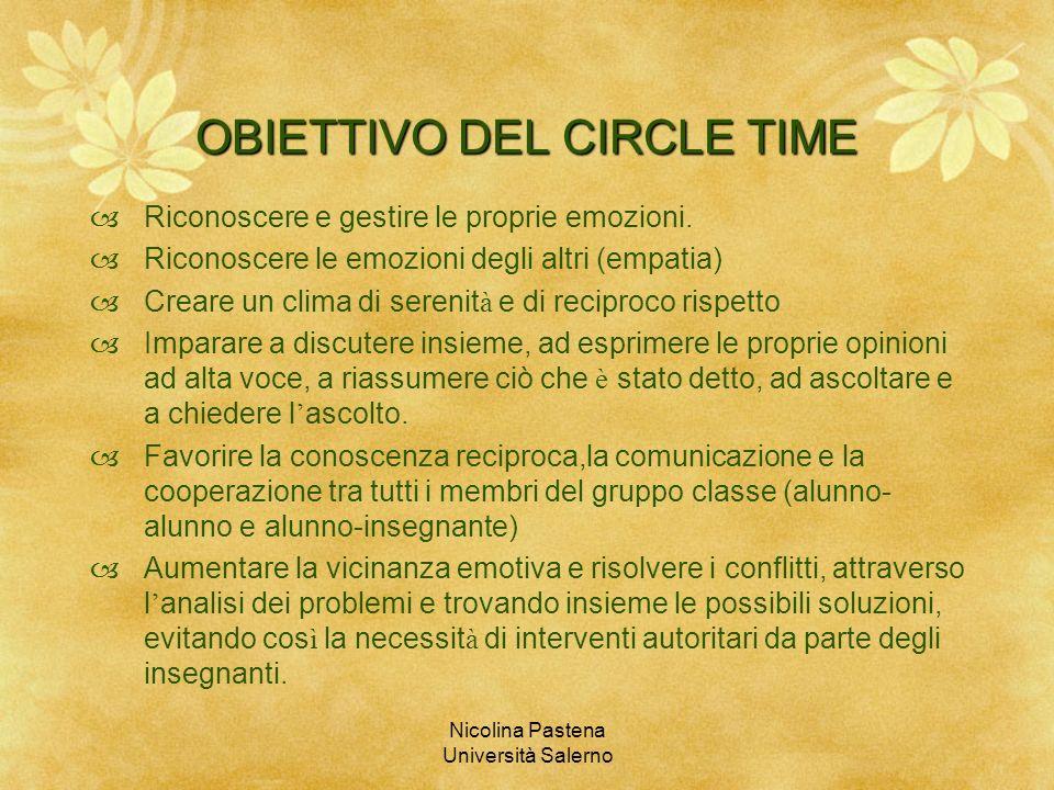 OBIETTIVO DEL CIRCLE TIME
