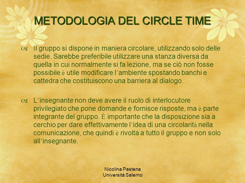 METODOLOGIA DEL CIRCLE TIME