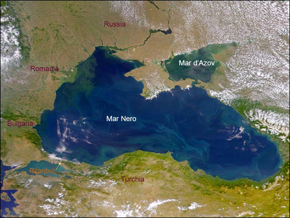 Russia Mar d'Azov Romania Mar Nero Bulgaria Istanbul Turchia