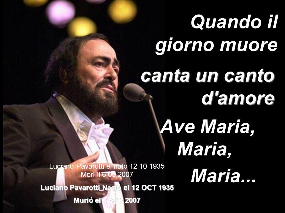 Luciano Pavarotti Nació el 12 OCT 1935