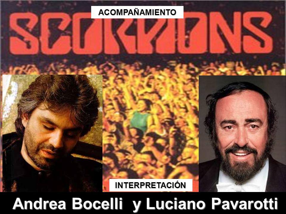 Andrea Bocelli y Luciano Pavarotti