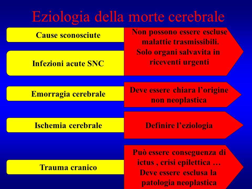 Eziologia della morte cerebrale