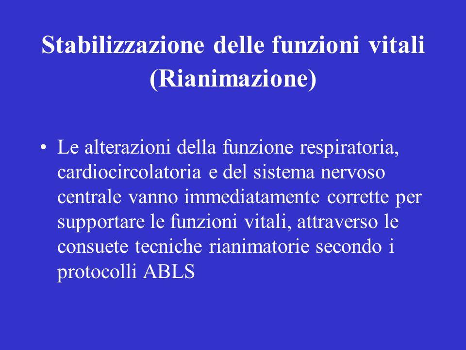 Stabilizzazione delle funzioni vitali (Rianimazione)